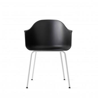 Chaise HARBOR - Noir, base acier