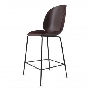 BEETLE stool - dark pink/black metal
