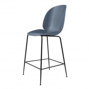 BEETLE stool - blue grey/black metal