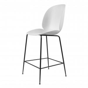 BEETLE stool - white/black metal