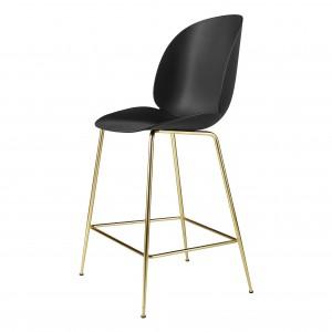 BEETLE stool - black/brass