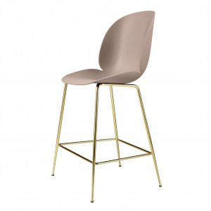 BEETLE stool - pink/brass