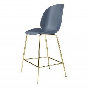 BEETLE stool - blue grey/brass