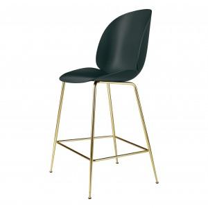 BEETLE stool - green/brass