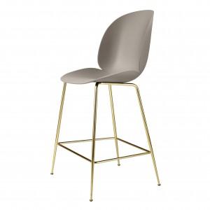 BEETLE stool - beige/brass