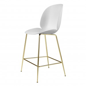BEETLE stool - white/brass