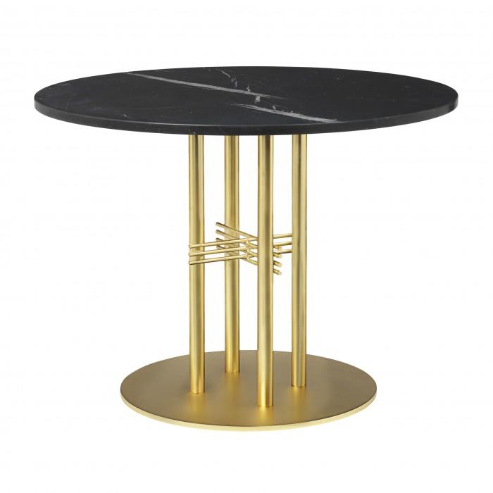 TS table Ø80 cm black marble/brass frame