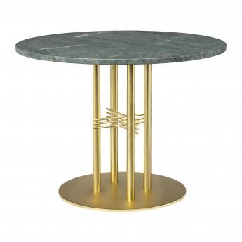 TS table Ø80 cm green marble/brass frame