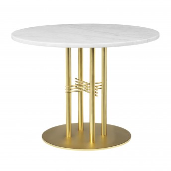 TS table Ø80 cm green marble/brass frame