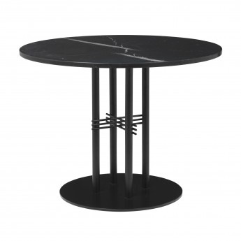 TS table Ø80 cm black marble/brass frame
