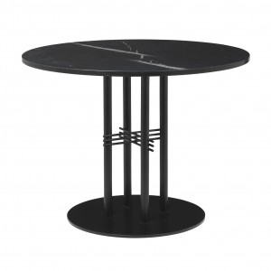 TS table Ø80 cm black marble/black frame