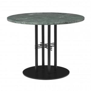 TS table Ø80 cm green marble/black frame