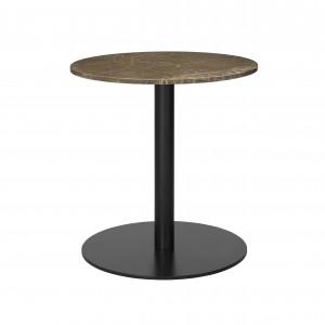 1.0 table Ø60 cm brown marble/black frame