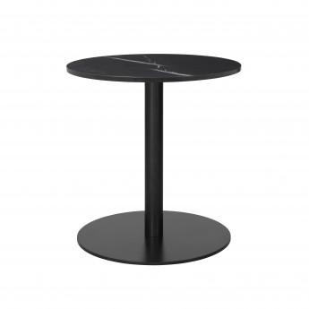 Table 1.0 Ø60 cm marbre noir/pied noir