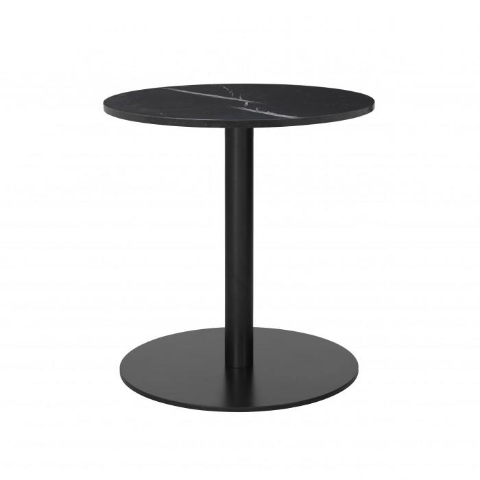 1.0 table Ø60 cm black marble/black frame