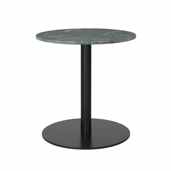 1.0 table Ø60 cm green marble/black frame