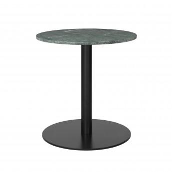 Table 1.0 Ø60 cm marbre vert/pied noir