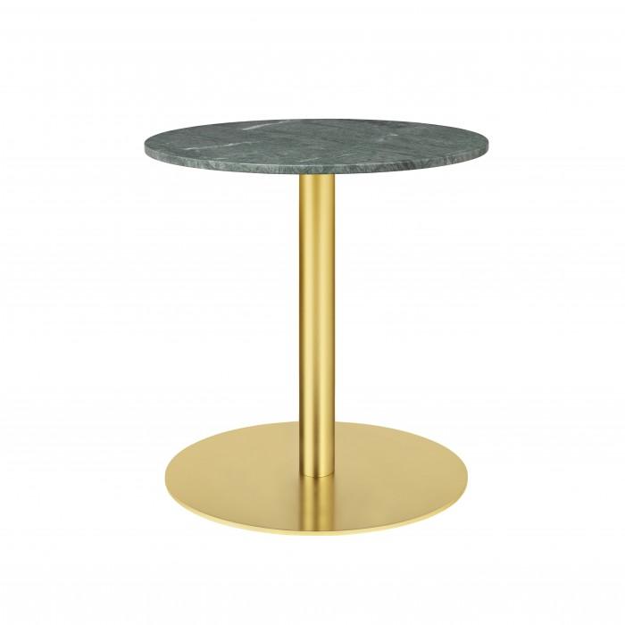 1.0 table Ø60 cm green marble/brass frame