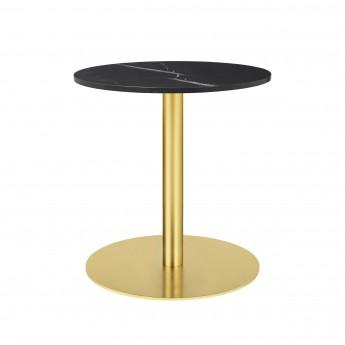 Table 1.0 Ø60 cm marbre noir/pied laiton