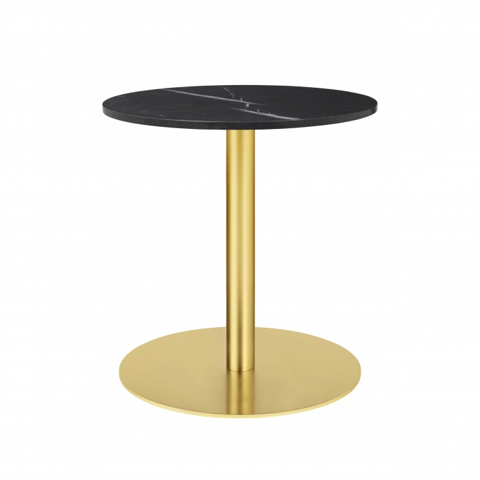 1.0 table Ø60 cm black marble/brass frame