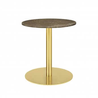 1.0 table Ø60 cm brown marble/brass frame