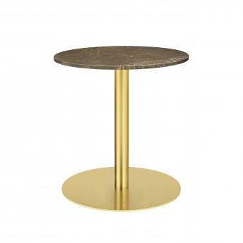 1.0 table Ø60 cm brown marble/brass frame