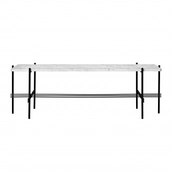 TS Console - 1 rack - white marble/black