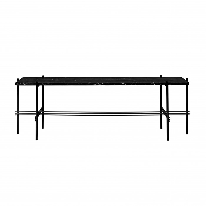 Console TS - 1 étagère - marbre noir/noir