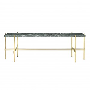 TS Console - 1 rack - green marble/brass