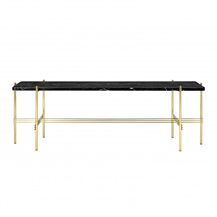TS Console - 1 rack - black marble/brass