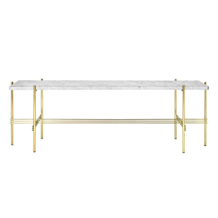 TS Console - 1 rack - white marble/brass