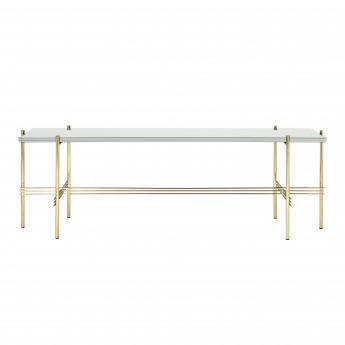 TS Console - 1 rack - white glass/brass