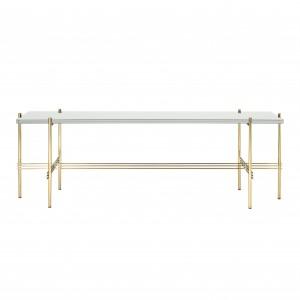 TS Console - 1 rack - white/brass