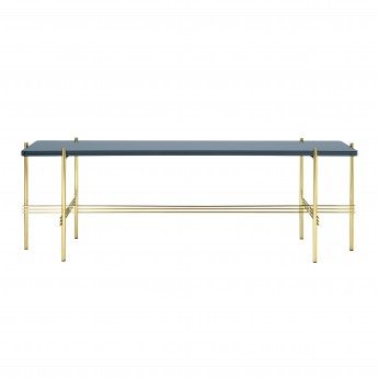 TS Console - 1 rack - blue grey glass/brass