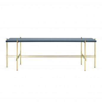 TS Console - 1 rack - blue grey glass/brass
