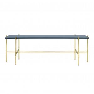 TS Console - 1 rack - blue grey/brass