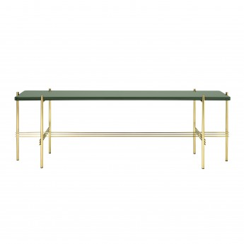 TS Console - 1 rack - green glass/brass
