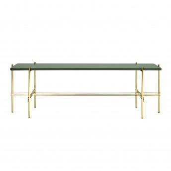 TS Console - 1 rack - green glass/brass
