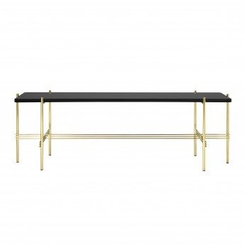 TS Console - 1 rack - black glass/brass