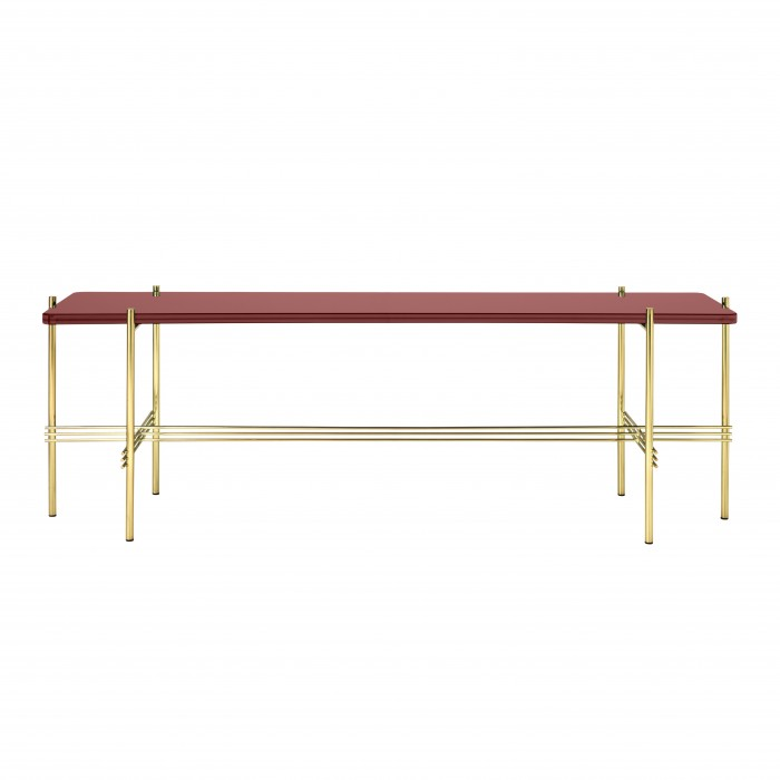 TS Console - 1 rack - red glass/brass