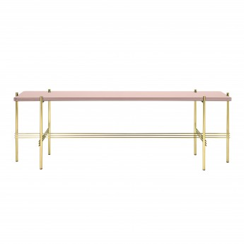 TS Console - 1 rack - rose glass/brass