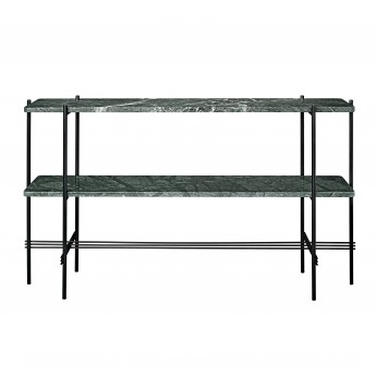TS Console - 2 rack - green marble/black