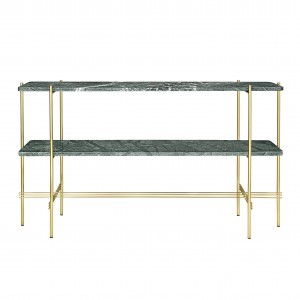 TS Console - 2 rack - green marble/brass