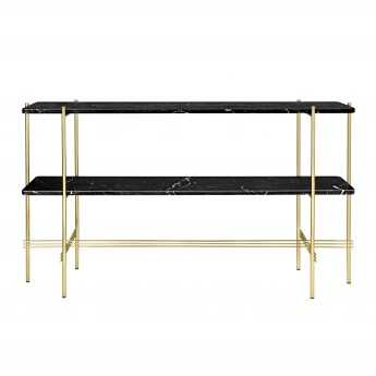TS Console - 2 rack - black marble/brass