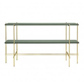 TS Console - 2 rack - green glass/brass