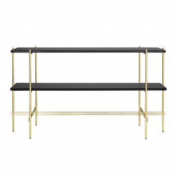 TS Console - 2 rack - black glass/brass