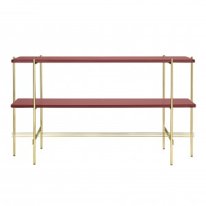 TS Console - 2 rack - red glass/brass