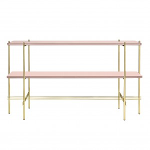 TS Console - 2 rack - rose glass/brass