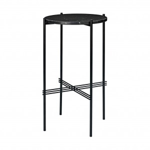TS round Console - black marble/black