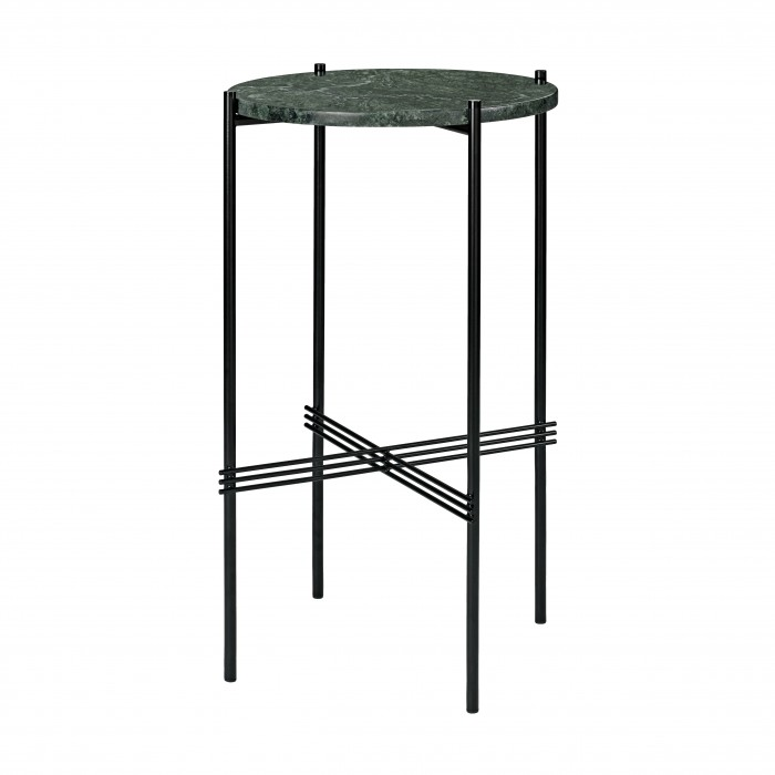 TS round Console - green marble/black